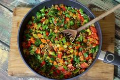 Kasza gryczana z warzywami w curry