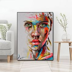 """""""Abstract Knife Portrait Oil Painting Modern Big Size Canvas Wall Art Printed Canvas Posters Prints Dropshipping no Frame"""" Canvas Poster, Canvas Wall Art, Wall Art Prints, Poster Prints, Big Canvas Art, Big Wall Art, Abstract Canvas, Oil Painting On Canvas, Spray Painting"""