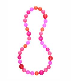 Florian Fuchsia Bead Necklace