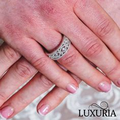 The infinite love wedding ring band by the Luxuria Jewellery brand Infinity Band Engagement Ring, Designer Engagement Rings, Engagement Ring Settings, Gold Diamond Wedding Band, Eternity Ring Diamond, Wedding Ring Bands, Bridal Ring Sets, Bridal Rings, Cubic Zirconia Engagement Rings