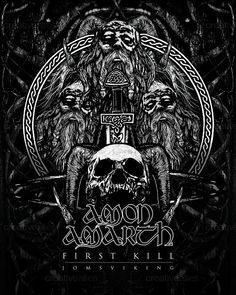 Amon Amarth Poster by Writhe Creations on CreativeAllies.com