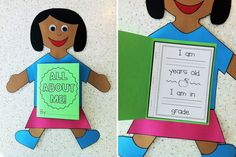 All About Me paper doll booklet - back to school idea!