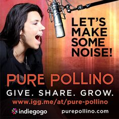 Join us in building an audience and raise the funds to be on the air 2x a week. http://purepollino.com