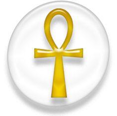 """El Anj (ˁnḫ) (☥) es un jeroglífico egipcio que significa """"vida"""", un símbolo muy utilizado en la iconografía de esta cultura.   También se la denomina cruz ansada (cruz con la parte superior en forma de óvalo, lazo, asa o ansa), crux ansata en latín, la """"llave de la vida"""" o la """"cruz egipcia"""". Se puede encontrar ocasionalmente su trasliteración inglesa, Ankh; italiana, Ankh; alemana, Anch y francesa, Ânkh, todas las cuales se pronuncian /'anx/."""