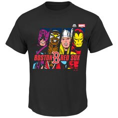 MLB Boston Red Sox Majestic Marvel Marks of Hero T-Shirt - Black