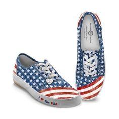 Womens Shoes: American Pride Womens Sneakers