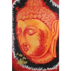 NOVICA Original Buddha Oil on Canvas Painting ($570) ❤ liked on Polyvore featuring home, home decor, wall art, art, buddha, painting, expressionist paintings, inspirational paintings, oil painting and buddha oil painting