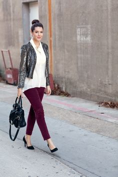 Kendi Styling the Sequin Cropped Jacket