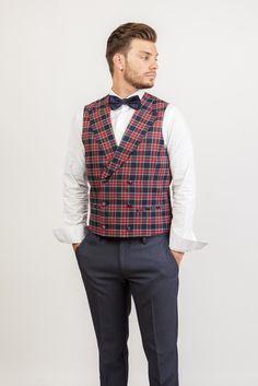 Tienda online | Moda mujer y hombre Chaleco tartán escocés Talenti Jeans Tienda online | Moda mujer y hombre