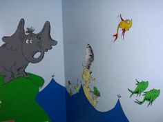 This whole room mural for our baby was my first attempt at a wall mural.  It was a lot of fun but a LOT of work.  Our 3 month old likes looking at the