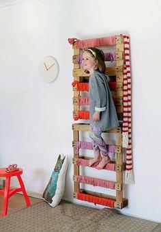 #children's spaces #fun #indoor #play #DIY project - Indoor Play Ladder