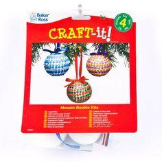 Kits de Boules de Noël en Mosaïque que les Enfants pourront Décorer et Suspendre au Sapin (Lot de 4): Amazon.fr: Jeux et Jouets