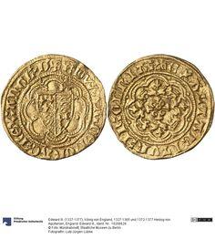 England: Edward III. Münze Edward III. (1327-1377), König von England, 1327-1365 und 1372-1377 Herzog von Aquitanien, Königtum, Münzherr 1351-1361 Land: Großbritannien (Land) Region: England (Region) Münzstätte/Ausgabeort: London Nominal: 1/4 Noble, Material: Gold, Druckverfahren: geprägt Gewicht: 1,86 g Durchmesser: 21 mm