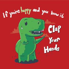"""This is too funny! (""""Clap Your Hands"""" Tee by Michael Holmes. 2013 