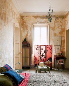 Séparer sans cloisonner avec un paravent - Marie Claire Maison