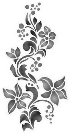 ideas for painted rocks flowers Stencil Patterns, Stencil Art, Stencil Designs, Embroidery Patterns, Hand Embroidery, Flower Stencils, Stenciling, Flower Patterns, Flower Designs