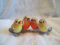 I'm obsessed with the Etsy seller's adorable needle felted animals