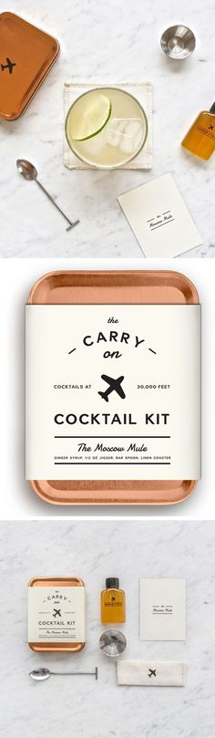 Carry-On Cocktail Kit! So cute :)