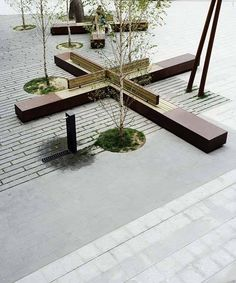 Quick And Easy Landscaping On A Budget - House Garden Landscape Landscape Elements, Urban Landscape, Landscape Architecture, Landscape Design, Architecture Diagrams, Architecture Portfolio, Urban Furniture, Street Furniture, Furniture Cleaning