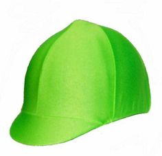 Equestrian Riding Helmet Cover - Lime Green by Helmet Covers Etc.. $16.95
