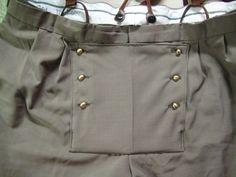 Make a fake fall front on modern pants