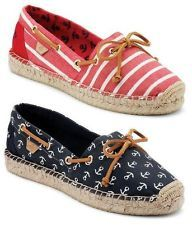 SPERRY KATAMA WOMENS CASUAL ESPADRILLE SLIP ON SHOES ALL SIZES