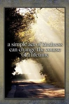 simple act of kindness