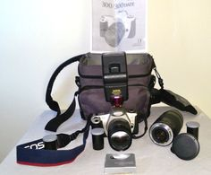 Canon EOS Rebel 2000 35mm SLR Film Camera with Extra Lens Bag and Film #Canon