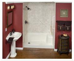 one day bathroom remodel | ... Surrounds, Shower Base Liners, rebath prices, one day bath remodeling