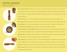 Tactile Features - Pepper Grinder