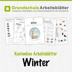 Kostenlose Arbeitsblätter und Unterrichtsmaterial zum Thema Winter in der Grundschule.