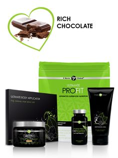 Get all the body-refining, fat-fighting powers of the Skinny Pack plus the superior nutrition of Greens™ and Ultimate ProFIT™ to alkalize, energize, build lean muscle, and achieve your total body makeover goals.             Tighten, tone & firm in 45 minutes with the Ultimate Body Applicator      Reduce the appearance of cellulite and varicose veins with Defining Gel      Cut diet-killing cravings and absorb less fat and carbs--after you've eaten them!--with Advanced Formula Fat Fighter…