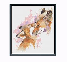 Mother Fox & Baby cross stitch pattern available for instant download. A watercolor style cross stitch pattern of a mother red fox and her baby. The FIRST picture is the chart you are buying, the dog chart is a sample of what my charts look like. You will NOT get these charts