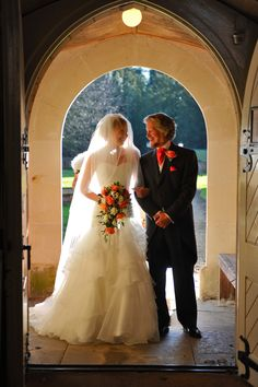 Nearly there, bride and father