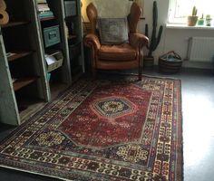 Tweedehands Prachtig vintage Perzisch tapijt warme kleuren handgeknoopt - te koop - Wildervank, GR