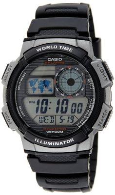 Casio Men's AE1000W-1BVCF Silver-Tone and Black Digital Sport Watch | Amazon Promo Code