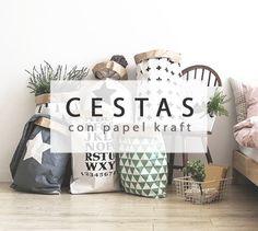 Crea decorativas cestas con papel kraft #diy #deco