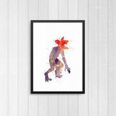 Demogorgon, Stranger things, Stranger Things Monster, Stranger Things Upside down  Demogorgon, Watercolor Print by BTSDesign on Etsy https://www.etsy.com/ca/listing/483090592/demogorgon-stranger-things-stranger
