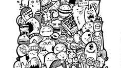 doodle art coloring page - Enjoy Coloring