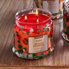 Spiced Pumpkin—decadent pumpkin spiced with ginger, cinnamon and nutmeg then wrapped in cream. Burn time: 25-45 hours. $25.00 each http://www.partylite.biz/legacy/sites/juliehoyman/productcatalog?page=productdetail&sku=G73842