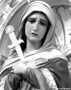 Beautiful statue of Our Lady of Sorrows in OLS Phoenix, SSPX chapel.  http://ourladyofsorrows.org/