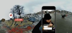 In December, Periscope started allowing a small number of partners to broadcast video. Now, 360 live video broadcasting is available to all on iOS or those who use Periscope Producer to broadcast. Periscope App, Video Ao Vivo, Innovation, Applications Android, Twitter, Direction, Lead Generation, Facebook, Tech News