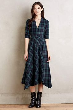 Sylvan Plaid Shirtdress - anthropologie.com. Needs more shoulder width than I have. Maybe with. Collar or adapt shirt dress style???