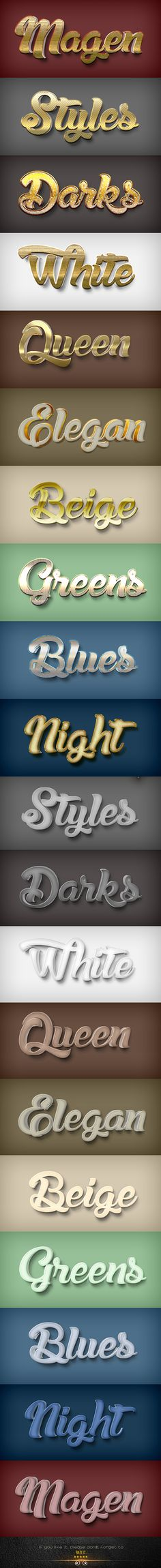20 3D Styles V.14A by diansyah_dhanny Fantasy shine text effects for photoshop, just click and applicable photoshop text effects. 10 3D photoshop styles just click app