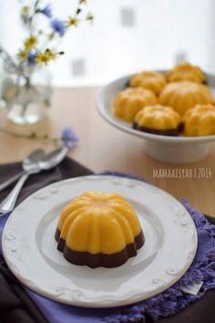 Dapur Mama Aisyah: Puding Labu Kuning Lapis Coklat/Pumpkin Pudding with Chocolate Layer Puding Cake, Resep Cake, Pudding Desserts, Pudding Recipes, Dessert Recipes, Cooking Tv, Custard Cake, Mousse Cake, Pumpkin Pudding