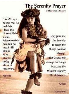 Serenity Prayer in Hawaiian
