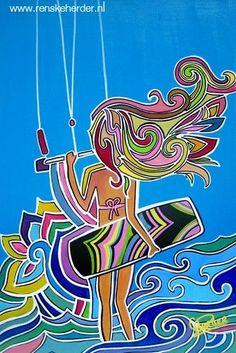 Gilrs can kite too! La demostración de que las chicas deben practicarlo!!!!!.... I want this on my wall