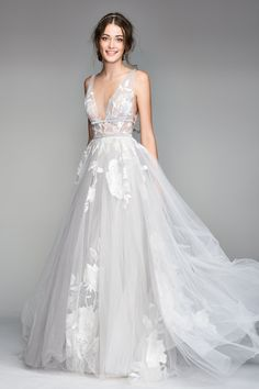 Searching for a wedding dress that suits your bridal style perfectly? Wondering what's currently on-trend in the bridal industry? Look no further - we're here to tell you about our top five wedding gown trends and styles that are all the rage for Off White Wedding Dresses, Tulle Wedding, Dream Wedding Dresses, Bridal Dresses, Wedding Gowns, Elegant Wedding, Wedding Skirt, Wedding Ceremony, Tulle Ballgown Wedding Dress