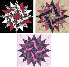 summer block, indian summer, quilt patterns, free download, black white, quilt blocks, paper piec, download pdf, red black