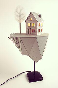 FLOATING ISLAND · cardboard lamp on Behance